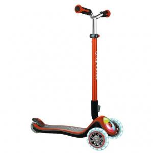 Scooter Globber Elite Prime cobre con iluminación en ruedas y base