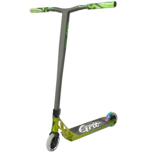 Grit Invader Complete Scooter Polished/Green Satin Grey