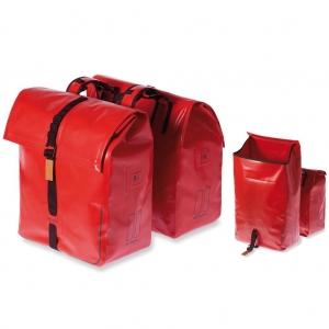 Alforjas Basil Urban Dry impermeable roja