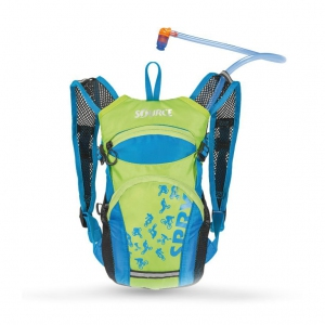 Mochila hidratante Source Spry depósito de bebida 1,5L azul claro verde