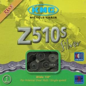 Cadena KMC Z-510S BMX 112 Pasos Color cromo