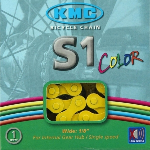 Cadena KMC BMX S1 112 Pasos Color amarillo