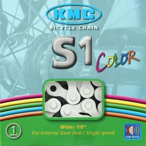 Cadena KMC BMX S1 112 Pasos Color blanco