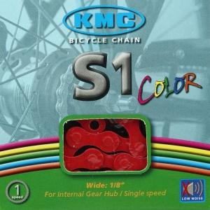 Cadena KMC BMX S1 112 Pasos Color rojo