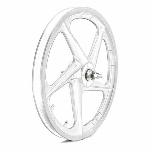 SET  RUEDAS  PLASTICO BMX, COLOR BLANCO 20 PULGADAS